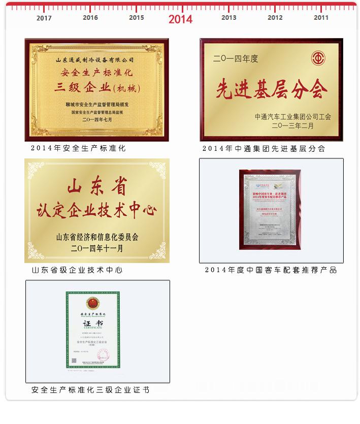 2014企业荣誉